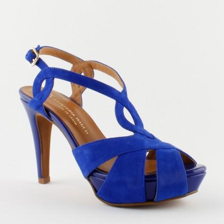 42042Sandalias En Azulón Taconeo Estefanía Marco Mujer Moda UMVpGqzS
